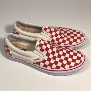 Vans Asher Checkerboard Slip on Shoes Women 9.5